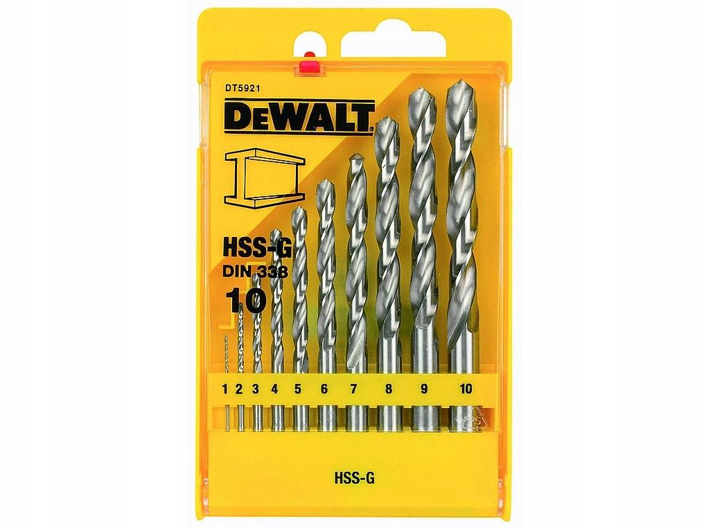 Zestaw wierteł do metalu 10cz HSS-G DeWalt DT5921