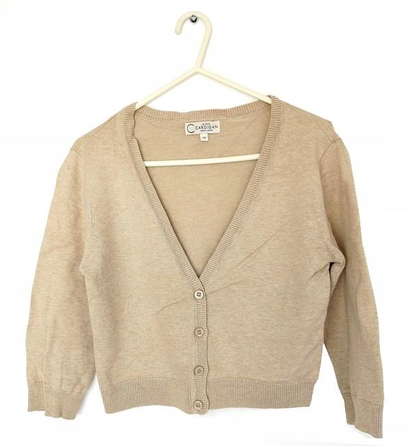 90N NEW LOOK krótki sweterek BOLERKO beż 38 M