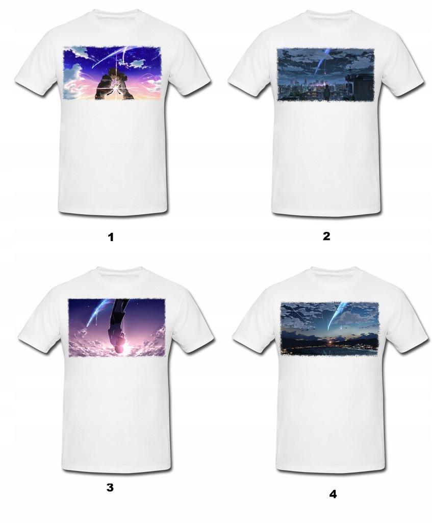 Koszulka Kimi no Na wa + GRATIS TEKST Super Jakość