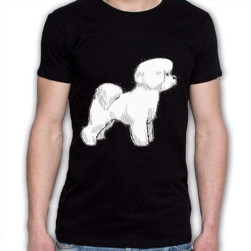 koszulka czarna Biszon kędzierzawy