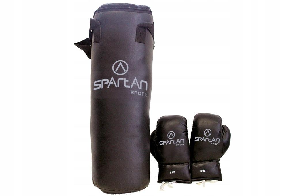Zestaw bokserski rękawice + 5 kg worek SPARTAN