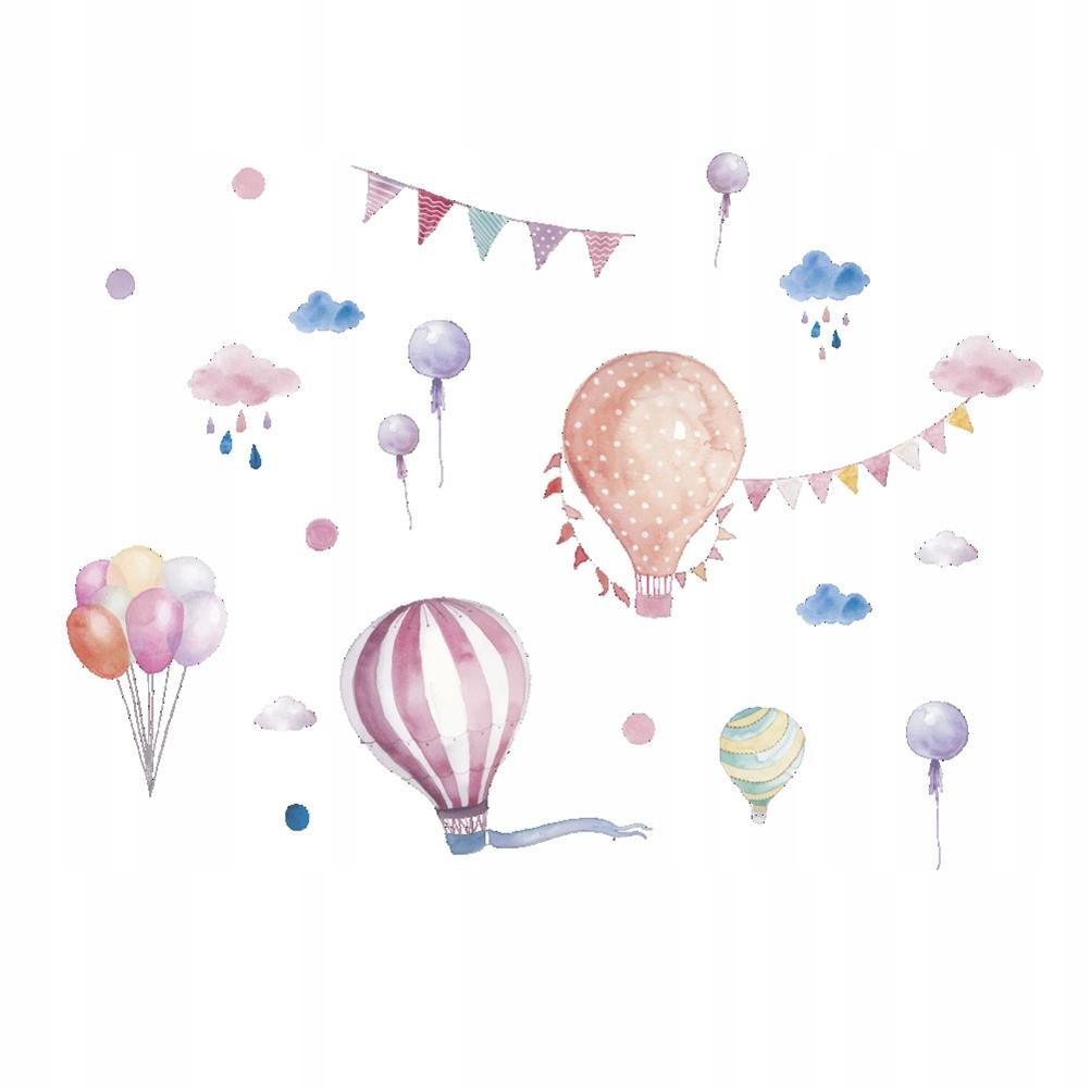 1 szt Wymienny Cartoon Hot Air Balloon Naklejka Śc