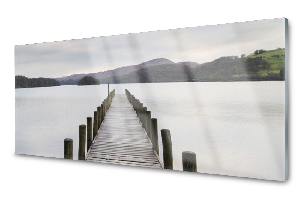 Lacobel Panel Szklany Ścienny Morze Most 120x60