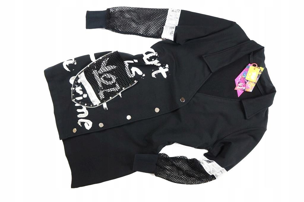 długa czarna bluza z ćwiekami
