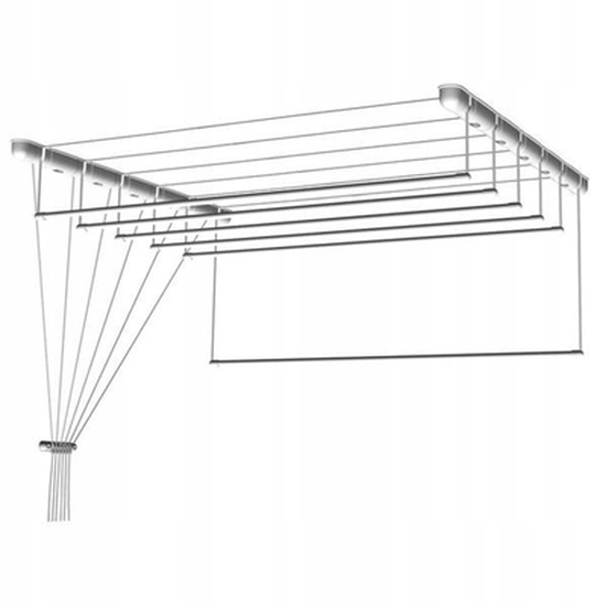 Suszarka sufitowa 7 prętów 190x63cm alu fi16