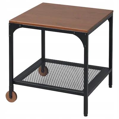 IKEA FJALLBO Stolikczarny 45x45 cm