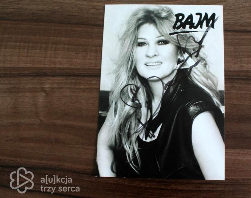 Zdjęcie Beaty Kozidrak z autografem