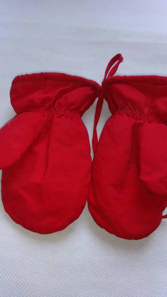 Rękawiczki ortalionowe, zimowe ocieplane dziecięce