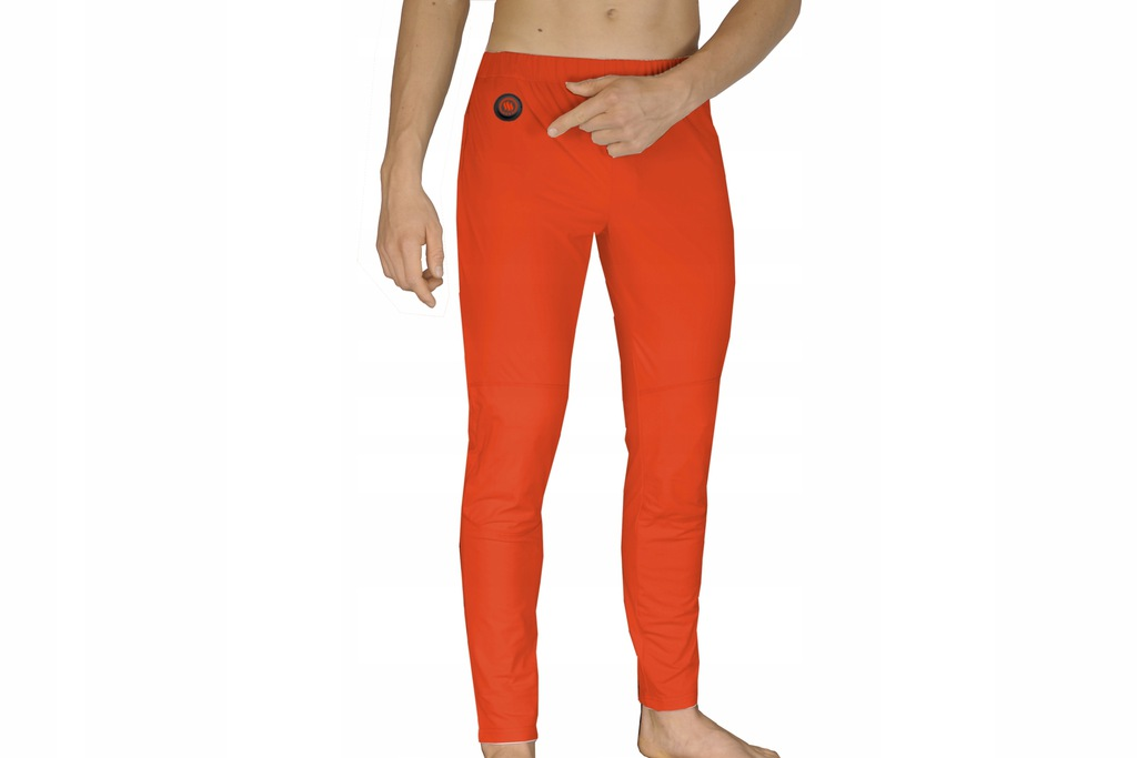 Ogrzewane termoaktywne spodnie pomarańcz GLOVII XL