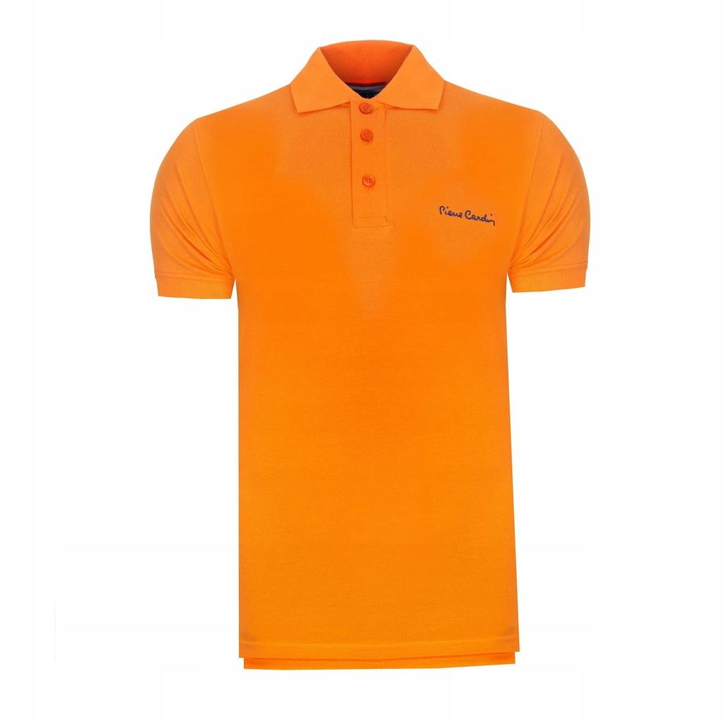 Koszulka polówka POLO PIERRE CARDIN pomarańczowe S