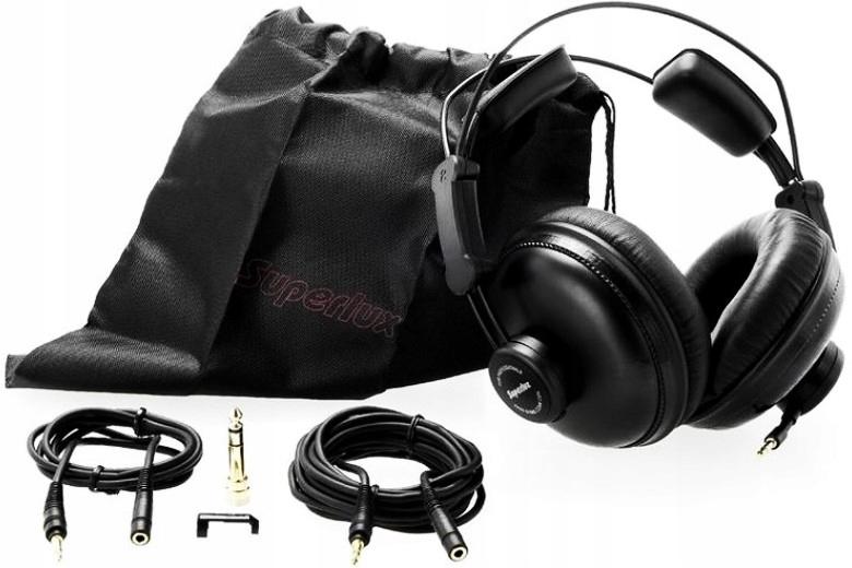 OUTLET Słuchawki studyjne zamknięte SUPERLUX HD669