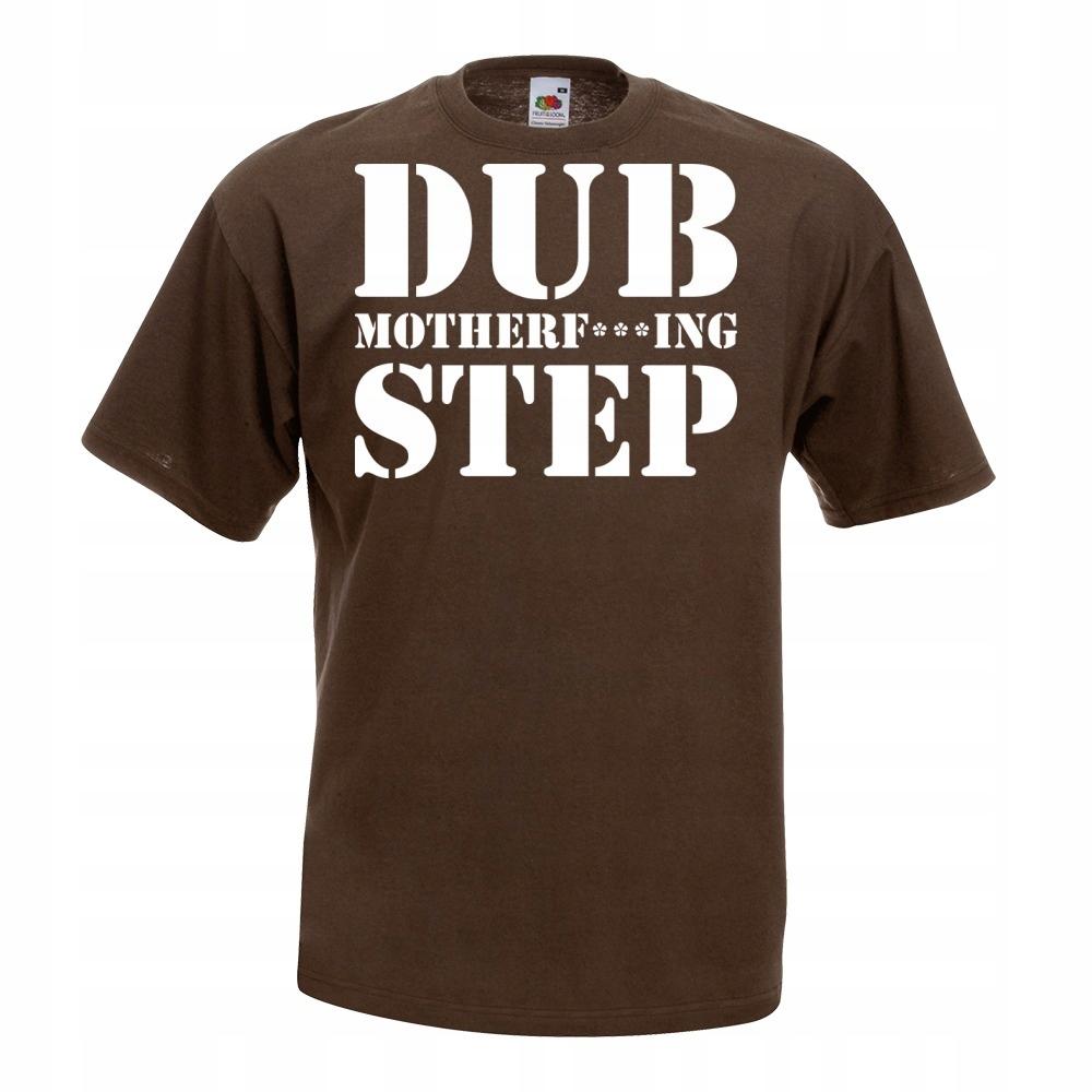 Koszulka z nadrukiem dubstep dub M brązowa