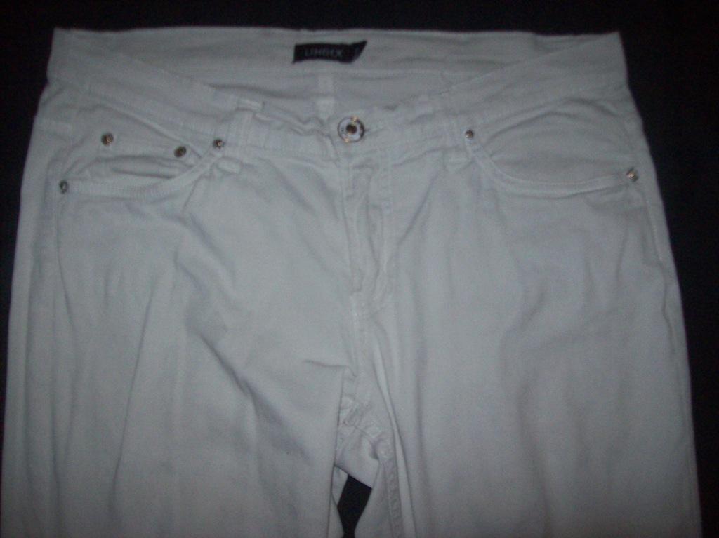 spodnie białe-bawełna,elastan-pas-96cm