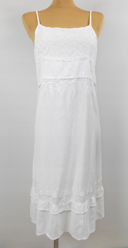 sukienka styl ZARA z INDIE przewiewna koronka 40