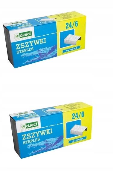 ZSZYWKI standardowe 24/6 cynkowe 2op.