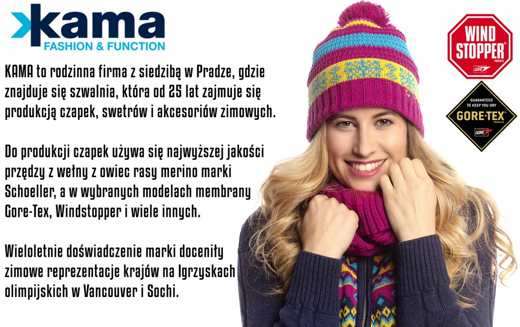 Sweter norweski KAMA Wełna Merino Made in CZ