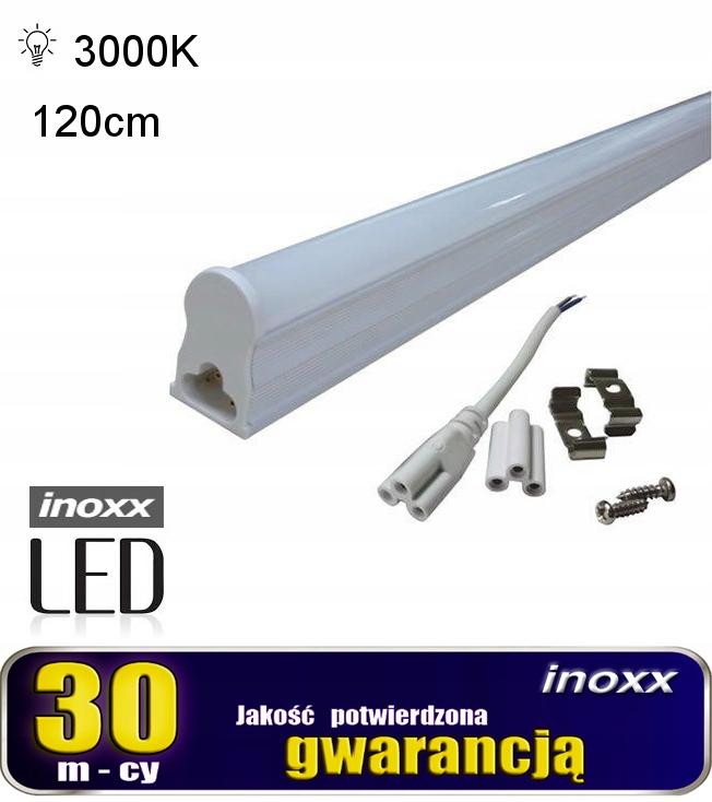 Świetlówka led liniowa t5 120cm 18w ciepła 3000k l