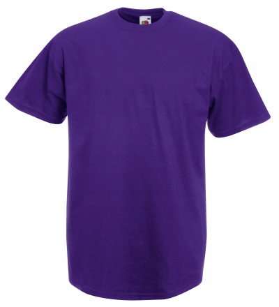 T-SHIRT FRUIT OF THE LOOM VALUE FIOLETOWY XXL