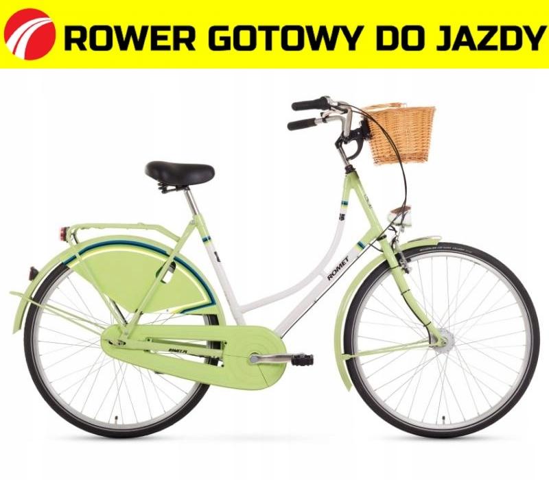 1428730-21 Rower ROMET RETRO lux 3 biało - zielony