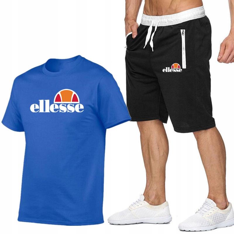 T-shirt NIEBIESKI+ Spodenki Ellesse R M MPA WYGODN