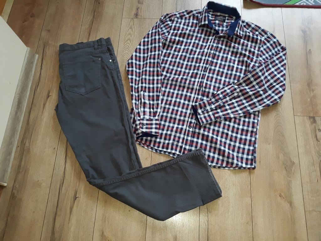 Zestaw spodnie+Koszula w kartkę H&M r L/XL