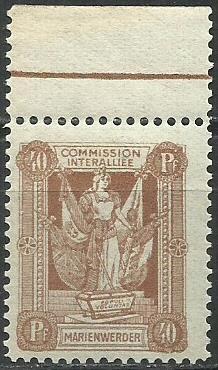 1920 PLEBISCYTY - KWIDZYN Fi 7* / margines