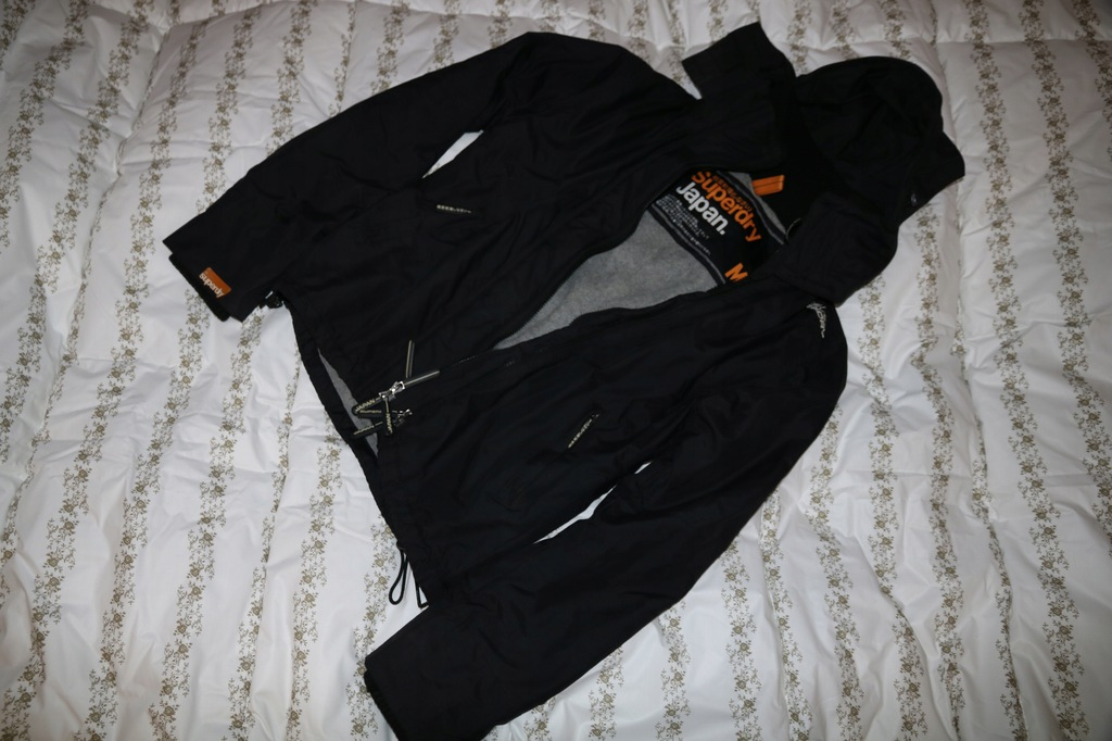 SUPERDRY Japan Windcheater czarna kurtka roz. M