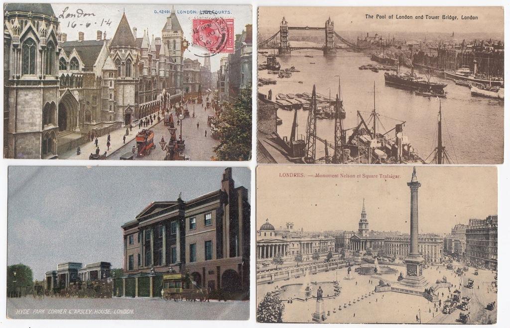 Stare pocztówki LONDYN ( 4 szt. ) 4L50