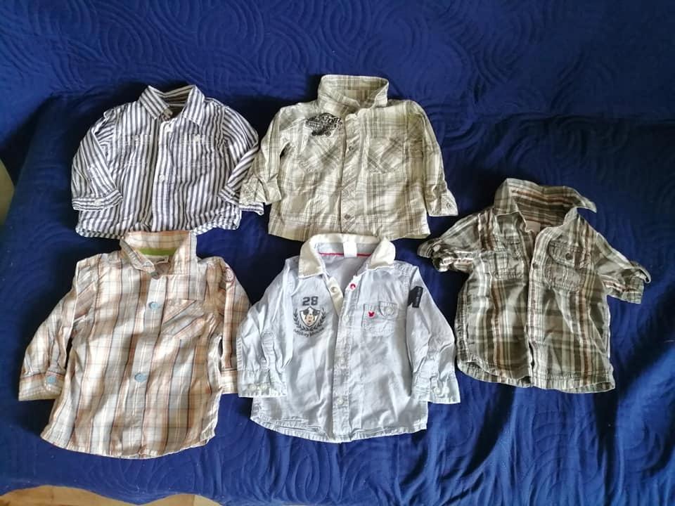 Koszule dla chłopca w rozmiarze 74 - 5 SZTUK!