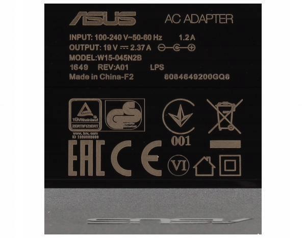 Zasilacz laptopa Asus W15 045N2B 7328836059 oficjalne