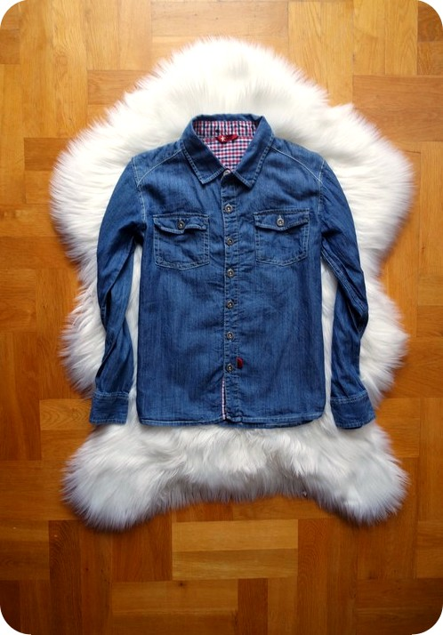 KOSZULA jeansowa modna ŚLICZNA 134 140 8-9 LAT BOY
