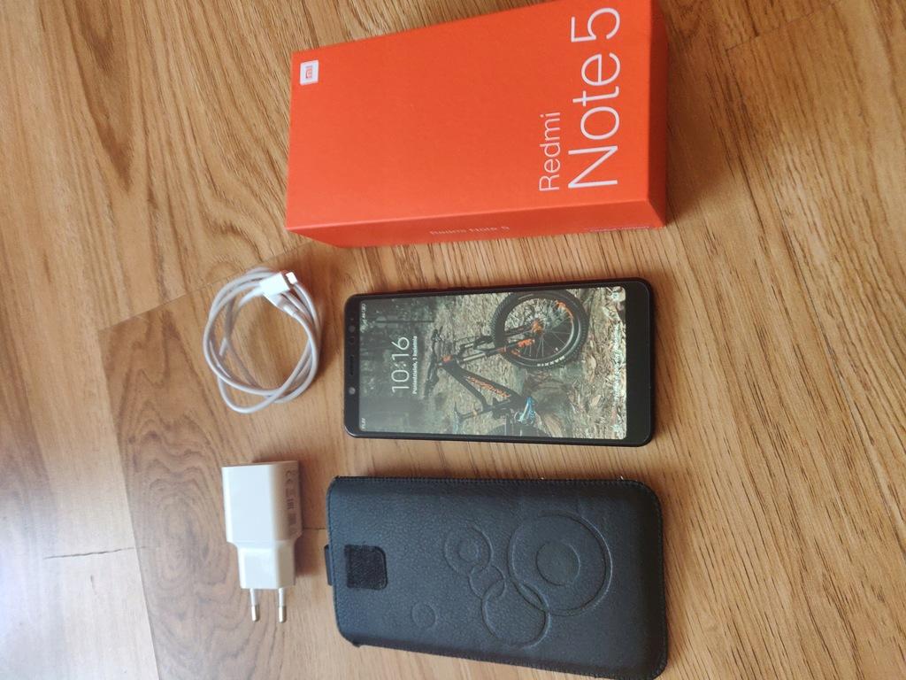 Xiaomi Redmi Note 5 4/64 Black, etui, szkło, folia