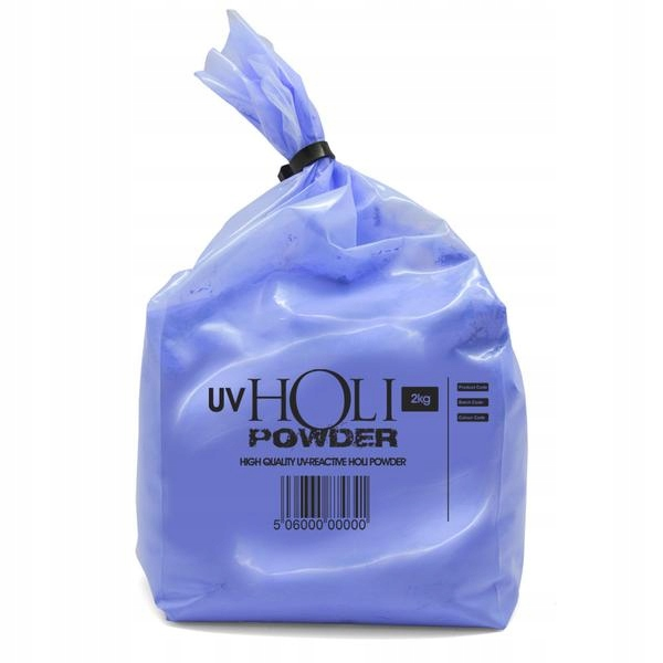 Kolorowy proszek HOLI 2kg NEON UV NIEBIESKI blue