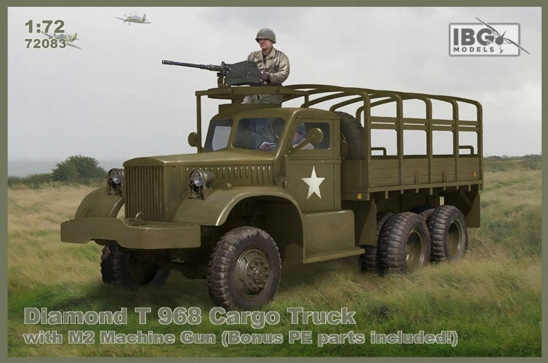Model plastikowy Diamond T968 Cargo Truck With M2