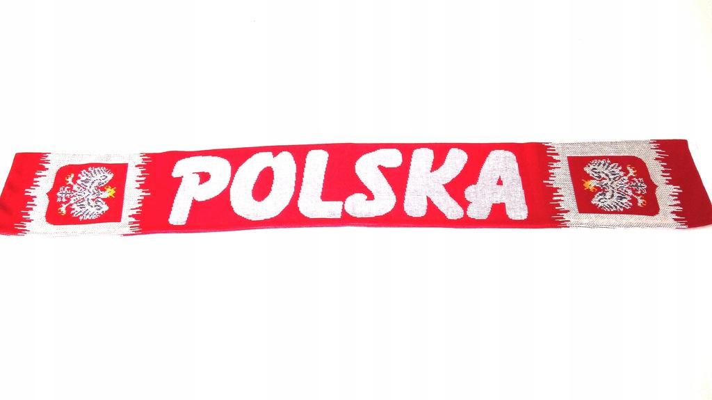 SZAL KIBICA POLSKA tzw.ZĘBY DZIANY DWUSTRONNY.