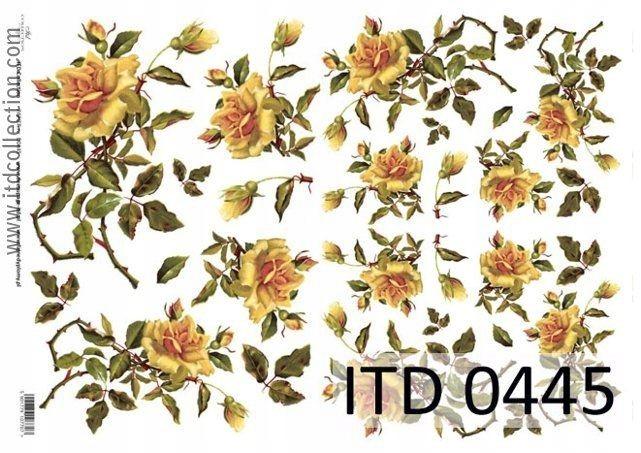 Papier do decoupage A4 - ITD - klasyczny, 0445