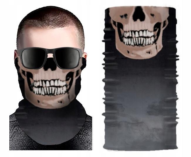 b chusta CZASZKA komin maska na twarz TERMOAKTYWNA