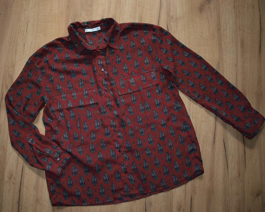 MANGO piękna koszula wzory IDEAŁ XS S