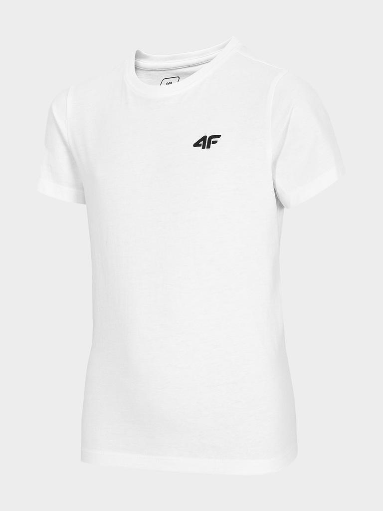 T-shirt chłopięcy basic 4F biały r. 146
