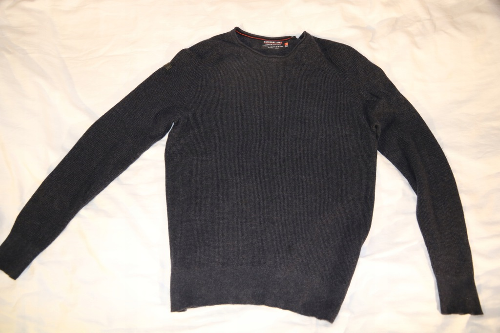 SUPERDRY JPN PREMIUM szary sweter roz.XL