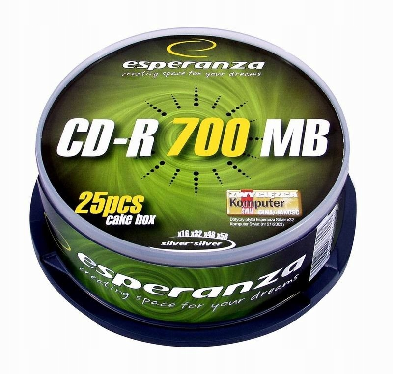 CD-R Silver 700MB x56 - Cake Box 25