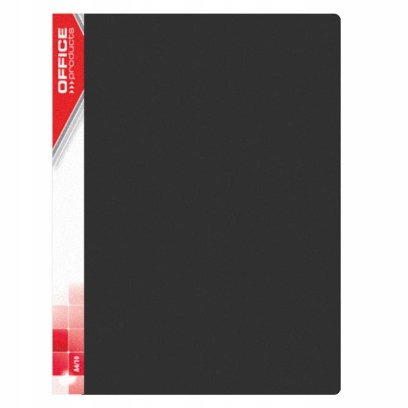 Teczka ofertowa A4/10 czarna 520mic.Office Product