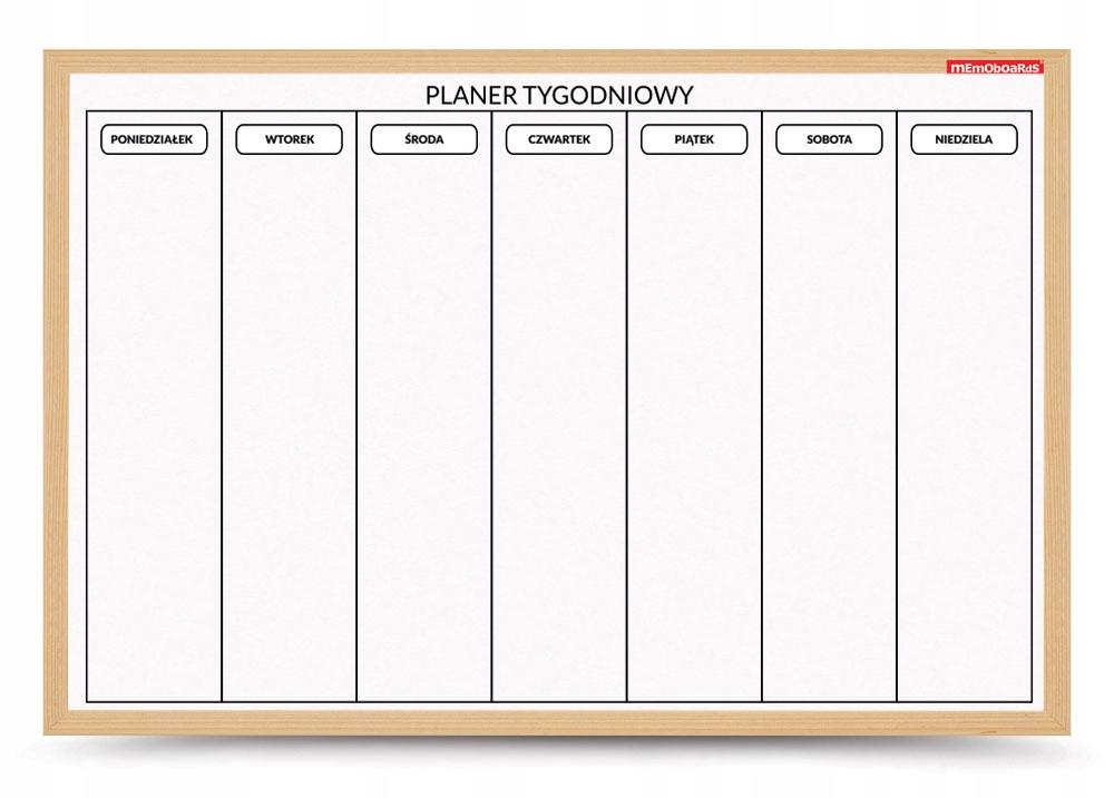 Tablica Suchościeralna-Magnetyczna 60X40 Planer Ty