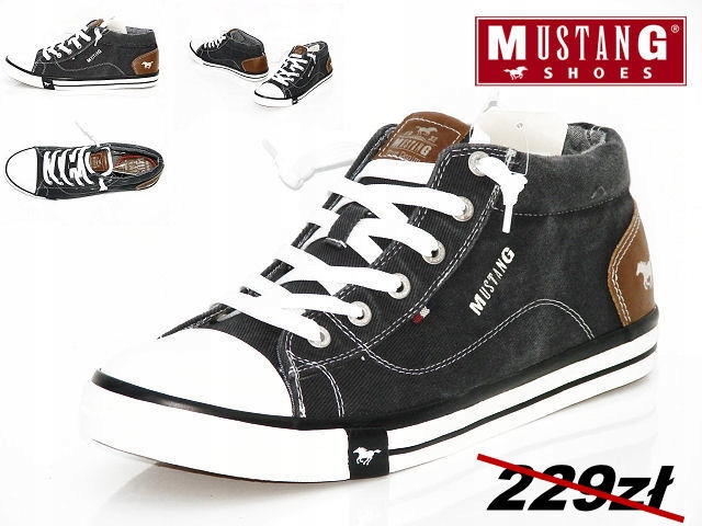 MUSTANG buty trampki męskie czarne MG 42A020 r. 43