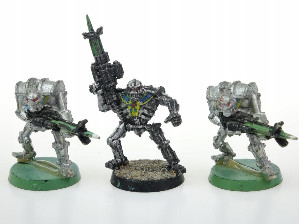 Necron Warriors zestaw 3 figurki metal