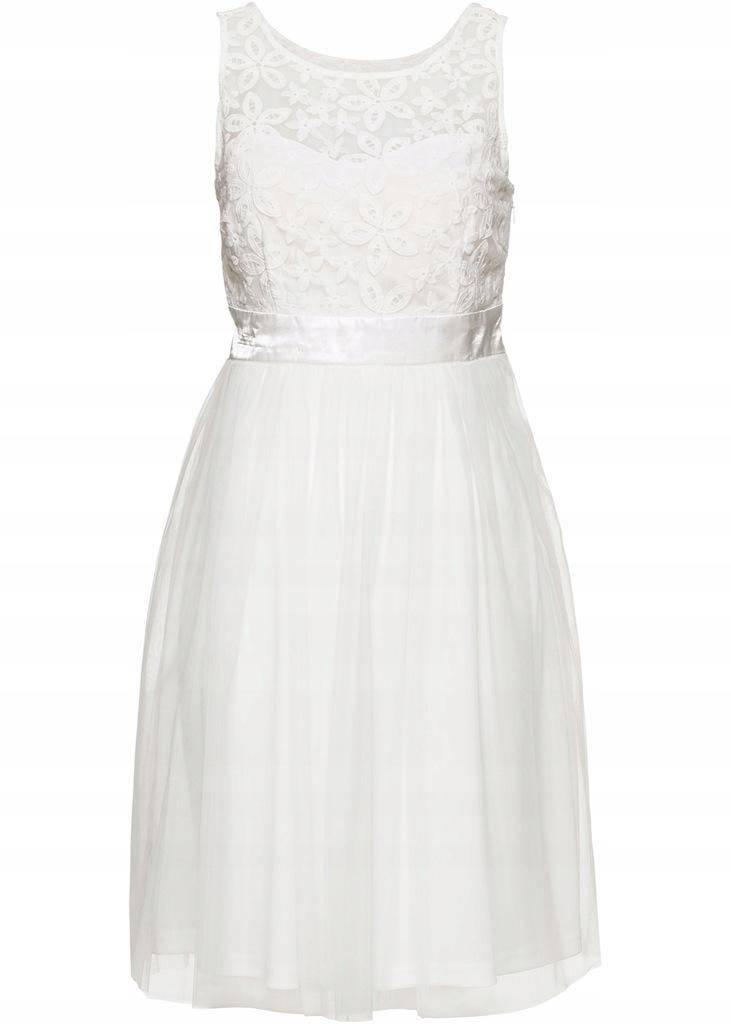 A91 BPC Koronkowa sukienka wieczorowa r.34