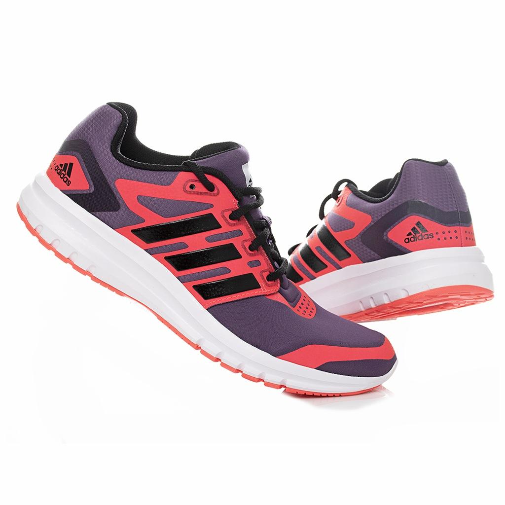 Buty damskie Adidas Galaxy 39 13 czarno fioletowe