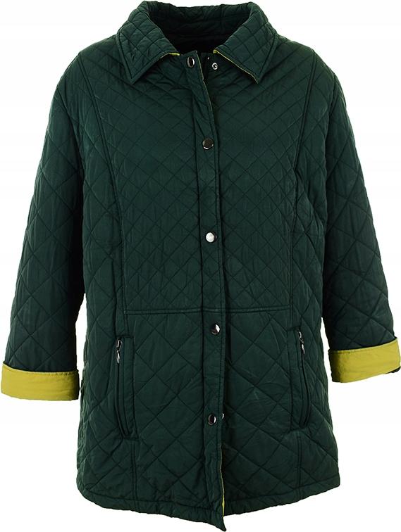kM8056 zielona pikowana kurtka, rozmiar 52