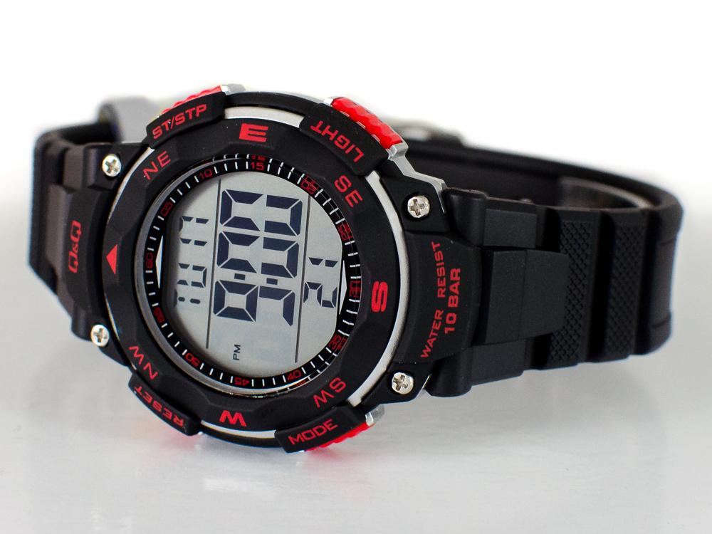 Zegarek elektroniczny Q&Q czarno czerwony