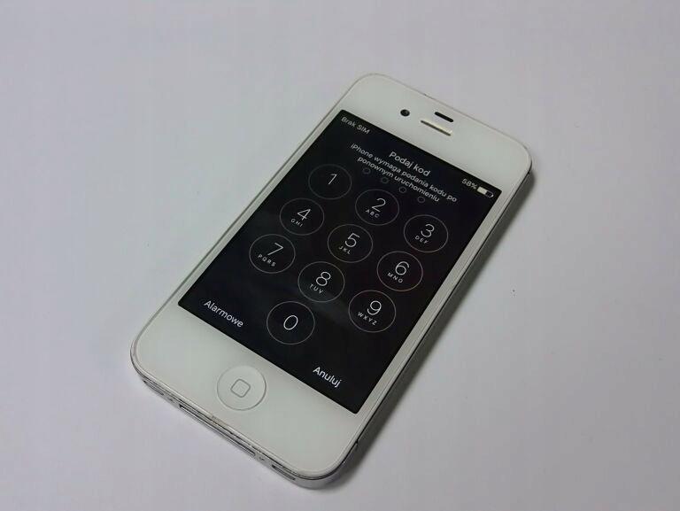 IPHONE 4 HASŁO
